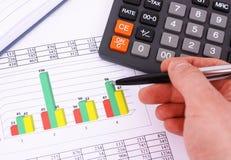 Accounting. Stock market graphs monitoring Royalty Free Stock Image