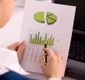 Accounting. Stock market graphs monitoring. Accounting Stock Photos