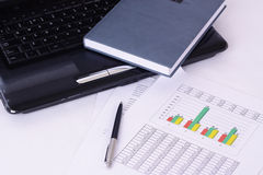 Accounting. Stock market graphs monitoring. Accounting Stock Images