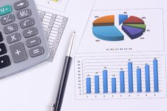 Accounting. Analysis of business graphs. Accounting Stock Photography