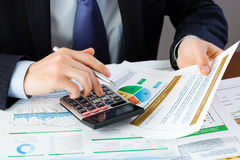 Accounting. The composition of the items for the office Royalty Free Stock Image