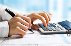 Accounting. Composition of office facilities for business Royalty Free Stock Image