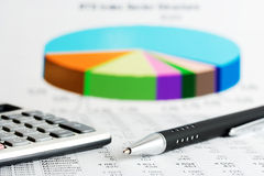 Financial accounting graphs and charts analysis Royalty Free Stock Photo