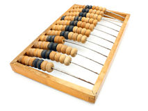 Accounting abacus. For financial calculations lies on a white background Royalty Free Stock Images