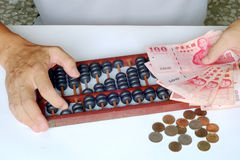 Accounting With the abacus Stock Image