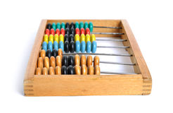 Accounting abacus on white background. Isolated Royalty Free Stock Photography