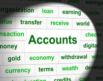 Accounting Accounts Represents Balancing The Books And Accountant Royalty Free Stock Photo