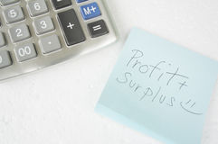 Accounting add number surplus calculator calculation concept Stock Photos