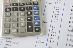 Accounting add number surplus calculator calculation concept Stock Image
