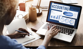 Accounting Auditing Balance Bookkeeping Capital Concept.  Royalty Free Stock Image