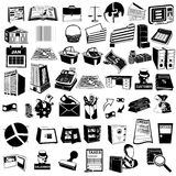Accounting black icons Stock Photography