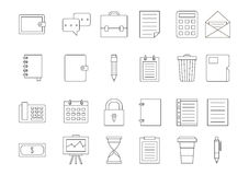Accounting black icons set Royalty Free Stock Photography