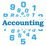 Accounting Blue Numbers Circular Royalty Free Stock Image