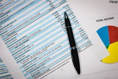 Accounting business concept. Accounting report and financial statement. royalty free stock photo