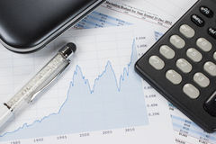 Accounting - Business Concept Royalty Free Stock Photos