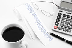 Accounting for business Royalty Free Stock Images