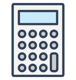 Accounting, calculating device Isolated Vector Icon That can be easily edited in any size or modified. royalty free illustration