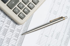 Accounting calculations Royalty Free Stock Photos