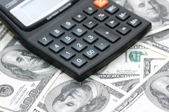 Accounting calculator Stock Image