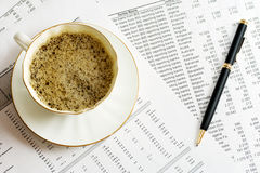 accounting coffee Стоковые Фото