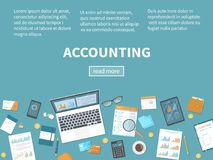 Accounting concept. Financial analysis, planning, data analysis research. Documents, forms, report, on the table. Accounting concept. Financial analysis Stock Photos
