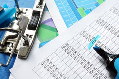 Accounting concept. Financial statements. Royalty Free Stock Photos