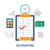 Accounting concept icons flat. Concept for business and finance Royalty Free Stock Photography