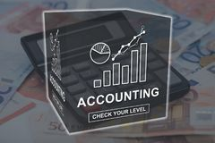 Concept of accounting. Accounting concept illustrated by a picture on background Stock Images