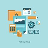 Accounting concept illustration Royalty Free Stock Photo