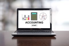 Accounting concept on a laptop. Screen Stock Images