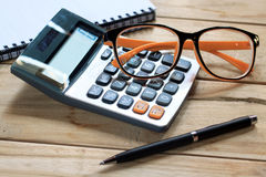 Accounting concept. On table top view Royalty Free Stock Photos