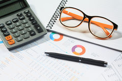 Accounting concept. On table top view Stock Photo