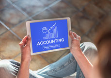 Accounting concept on a tablet Stock Image