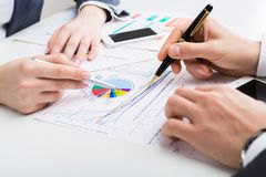 Accounting. Cost accountant assets business working capital Royalty Free Stock Photo