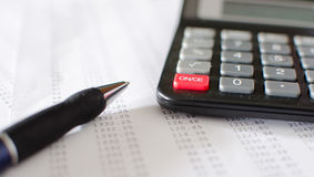 Accounting desktop Royalty Free Stock Photos
