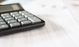 Accounting desktop Royalty Free Stock Photo