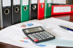 Accounting desktop Stock Photography