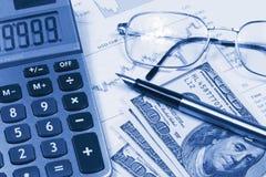 Accounting,dual tone Stock Photos