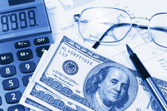 Accounting,dual tone Stock Images