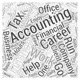 Accounting Finance Careers word cloud concept  background. Text Stock Photography