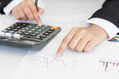 Accounting or finance concept Royalty Free Stock Photos