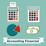 Accounting Financial concept. The cartoon business concept ideas Stock Images