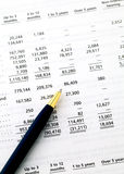 Accounting financial data Stock Photos