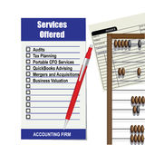 Accounting firm list of services Royalty Free Stock Photos