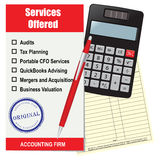 Accounting firm services Stock Images