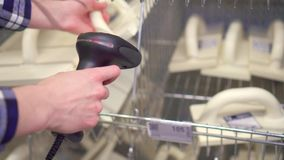 Accounting for goods using a barcode scanner