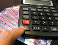 Accounting with Hong Kong currencies Stock Images