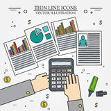 Accounting icon thin line for web and mobile, modern minimalisti Stock Photo