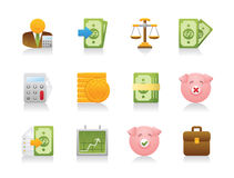 Accounting Icons Royalty Free Stock Photos