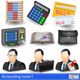 Accounting icons Royalty Free Stock Images